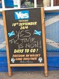 Giorno del referendum a Inverness Fotografie Stock
