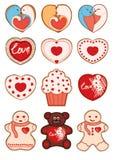 Giorno del ` s del biglietto di S. Valentino del biscotto dell'innamorato Immagine Stock