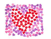 Giorno del ` s del biglietto di S. Valentino, il 14 febbraio Iscrizioni circa amore illustrazione di stock
