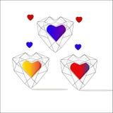 Giorno del `s del biglietto di S Il cuore è il simbolo di amore Struttura decorativa di vettore Immagini Stock
