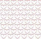 Giorno del ` s del biglietto di S. Valentino dei cuori Fotografie Stock