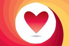 Giorno del ` s del biglietto di S. Valentino del cuore Immagini Stock Libere da Diritti