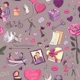 giorno del ` s del biglietto di S. Valentino del modello Immagini Stock