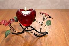 Giorno del ` s del biglietto di S. Valentino della candela Immagini Stock Libere da Diritti
