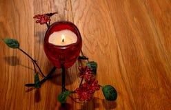 Giorno del ` s del biglietto di S. Valentino della candela Fotografia Stock