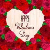Giorno del ` s del biglietto di S. Valentino della carta Immagine Stock