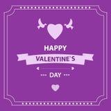Giorno del ` s del biglietto di S. Valentino della carta Elementi di disegno ENV 10 Immagini Stock Libere da Diritti