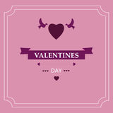 Giorno del ` s del biglietto di S. Valentino della carta Elementi di disegno ENV 10 Fotografia Stock