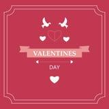 Giorno del ` s del biglietto di S. Valentino della carta Elementi di disegno ENV 10 Fotografie Stock Libere da Diritti