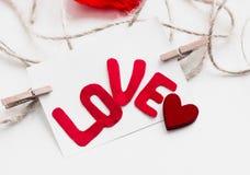 Giorno del ` s del biglietto di S. Valentino della cartolina Immagine Stock Libera da Diritti