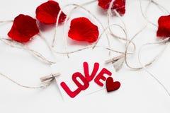 Giorno del ` s del biglietto di S. Valentino della cartolina Fotografia Stock Libera da Diritti