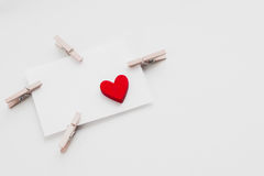 Giorno del ` s del biglietto di S. Valentino della cartolina Fotografie Stock
