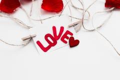 Giorno del ` s del biglietto di S. Valentino della cartolina Fotografia Stock