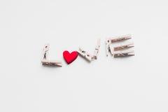 Giorno del ` s del biglietto di S. Valentino della cartolina Fotografie Stock Libere da Diritti