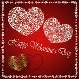 Giorno del ` s del biglietto di S. Valentino - il cuore fiorisce la raccolta Fotografia Stock Libera da Diritti