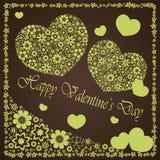 Giorno del ` s del biglietto di S. Valentino - il cuore fiorisce la raccolta Fotografie Stock Libere da Diritti