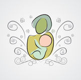 Giorno del ` s della madre: madre e figlio felici royalty illustrazione gratis