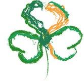 Giorno del ` s di St Patrick dell'Irlandese della bandiera dell'acetosella immagini stock libere da diritti