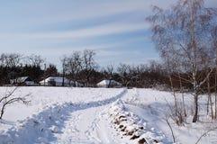 Giorno del sole di inverno Fotografie Stock