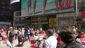 Giorno del Times Square di New York in 4K archivi video