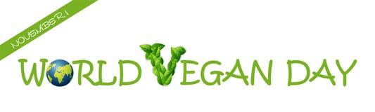 Giorno del vegano del mondo Immagini Stock