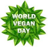 Giorno del vegano del mondo Immagine Stock