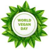Giorno del vegano del mondo Immagini Stock Libere da Diritti