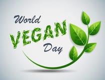 Giorno del vegano del mondo Fotografia Stock