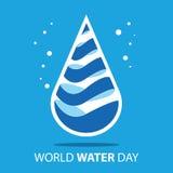 Giorno dell'acqua del mondo Immagine Stock Libera da Diritti