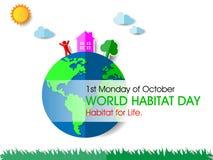 Giorno dell'habitat del mondo royalty illustrazione gratis