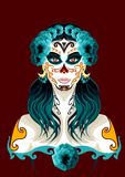 Giorno dell'illustrazione morta del ritratto della donna Immagine Stock Libera da Diritti