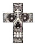 Giorno dell'incrocio del cranio di arte del festival morto Immagini Stock