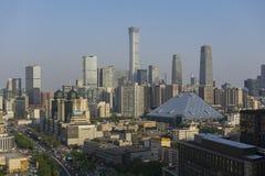 Giorno dell'orizzonte di Pechino fotografie stock