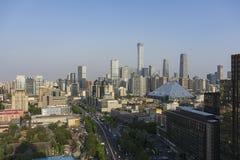 Giorno dell'orizzonte di Pechino immagine stock