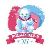 Giorno dell'orso polare Fotografia Stock