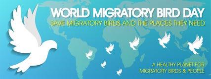 Giorno dell'uccello migratore del mondo illustrazione di stock