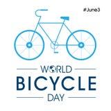 Giorno della bicicletta del mondo Immagini Stock