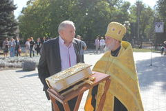 Giorno della città in Luhansk fotografia stock