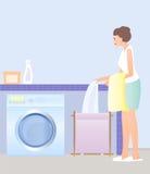 Giorno della lavanderia illustrazione vettoriale