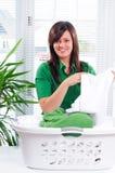 Giorno della lavanderia Fotografia Stock