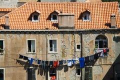 Giorno della lavanderia a Dubrovnik Fotografie Stock Libere da Diritti