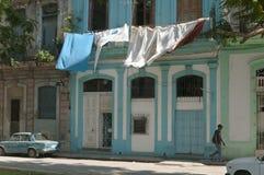 Giorno della lavanderia in Havana Cuba Fotografie Stock Libere da Diritti