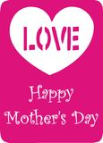 Giorno della madre felice royalty illustrazione gratis