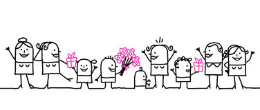 Giorno della madre felice! royalty illustrazione gratis