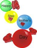 Giorno della madre felice di punto Fotografie Stock Libere da Diritti