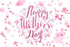 Giorno della madre felice Fondo tipografico della primavera Fotografie Stock