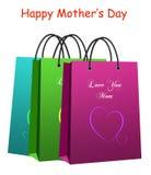 Giorno della madre - sacchetto di acquisto Immagine Stock Libera da Diritti