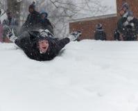 Giorno della neve Immagini Stock