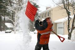 Giorno della neve Immagini Stock Libere da Diritti