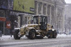 Giorno della neve a Toronto fotografia stock